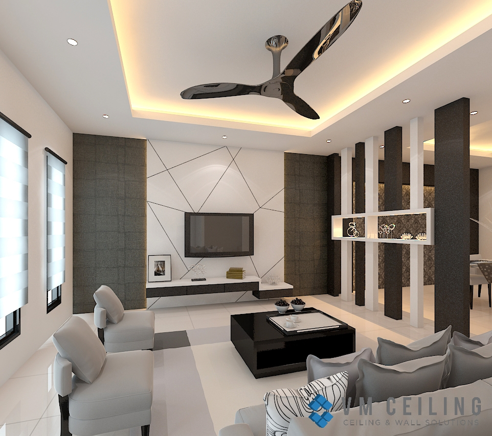 Living Room False Ceiling & Cove Lighting Singapore HDB