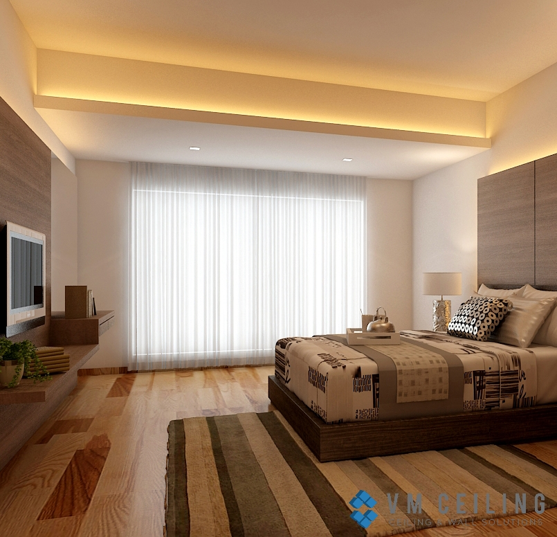 Bedroom False Ceiling & Cove Lighting Singapore Landed
