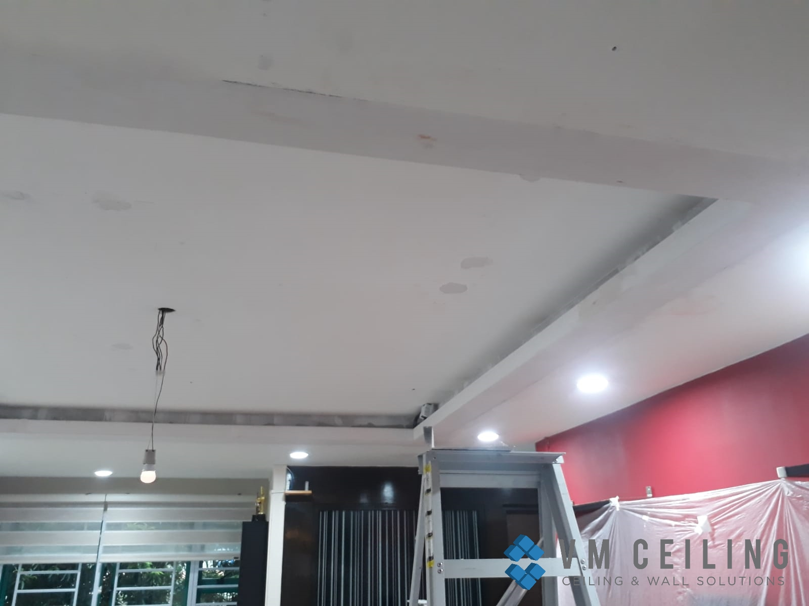 Living Room False Ceiling Downlights Installation vm ceiling Singapore HDB Admiralty 1