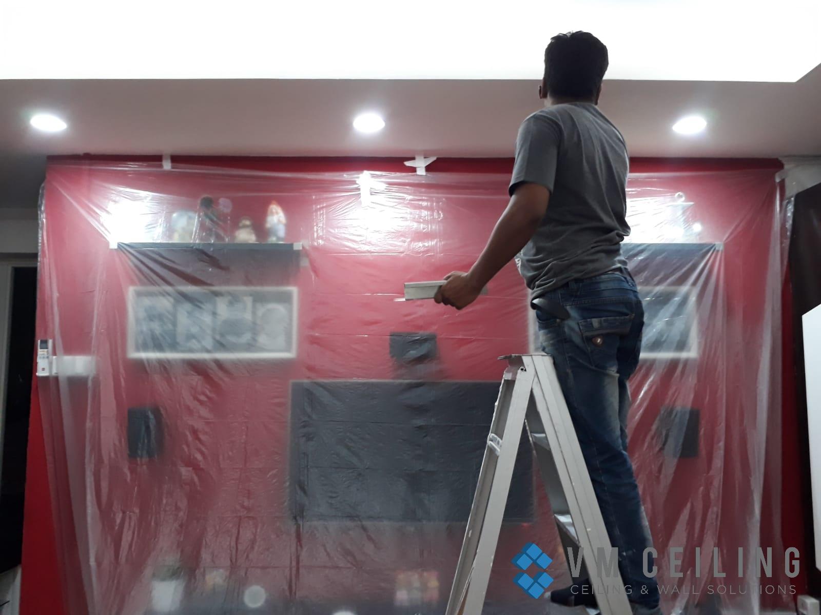 Living Room False Ceiling Downlights Installation vm ceiling Singapore HDB Admiralty 4