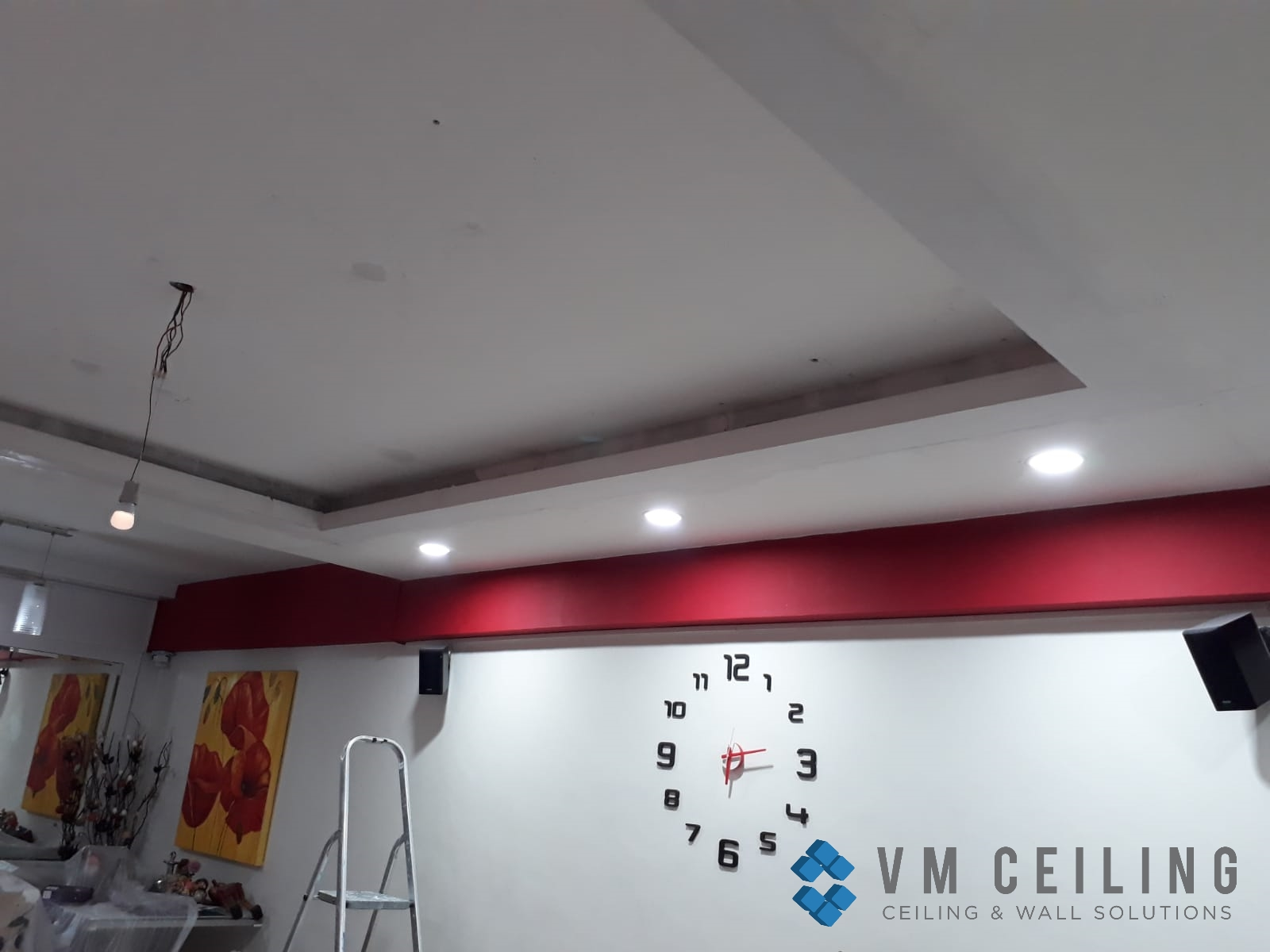 Living Room False Ceiling Downlights Installation vm ceiling Singapore HDB Admiralty 5