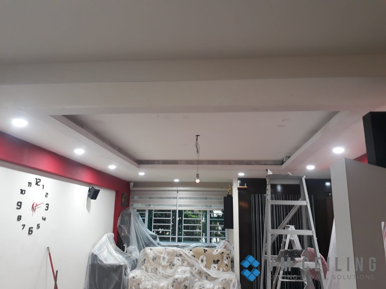 Living Room False Ceiling Downlights Installation vm ceiling Singapore HDB Admiralty