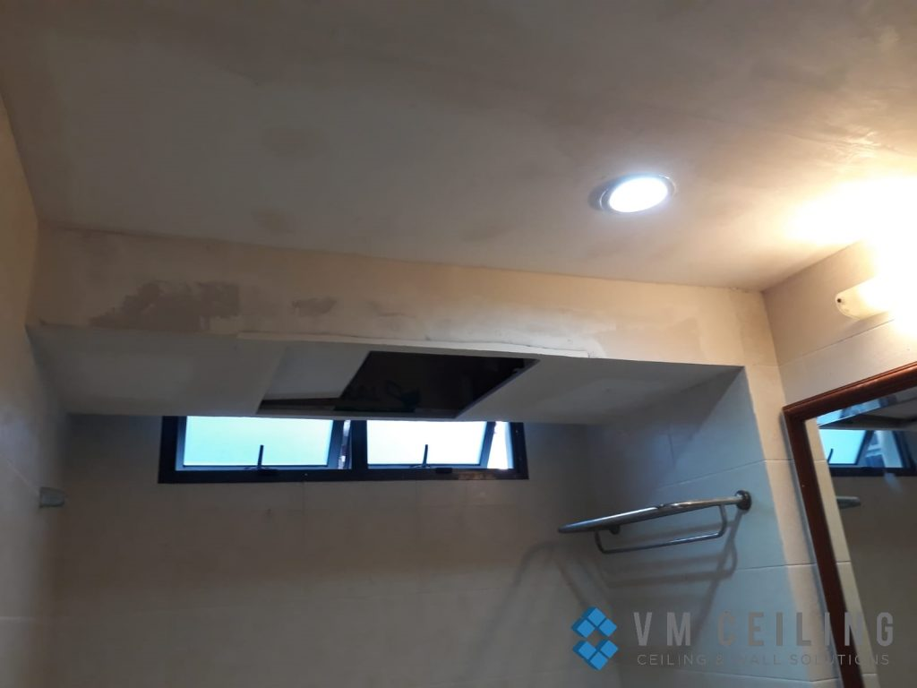 bathroom false ceiling downlights installation singapore condo choa chu kang