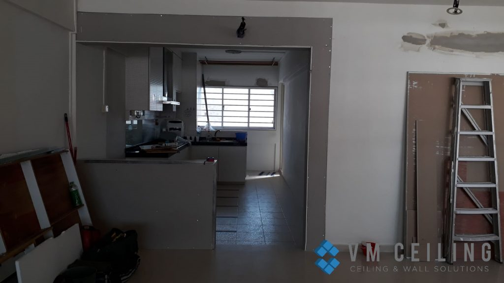 kitchen viewing glass sliding glass door vm ceiling singapore hdb yishun 3