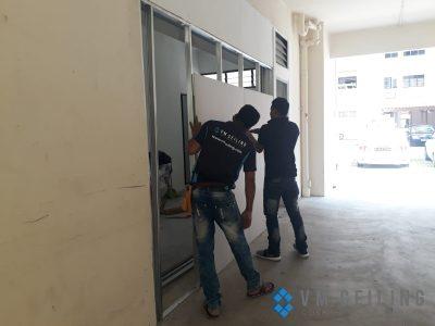 partition wall vm ceiling singapore commercial studio bukit batok 3