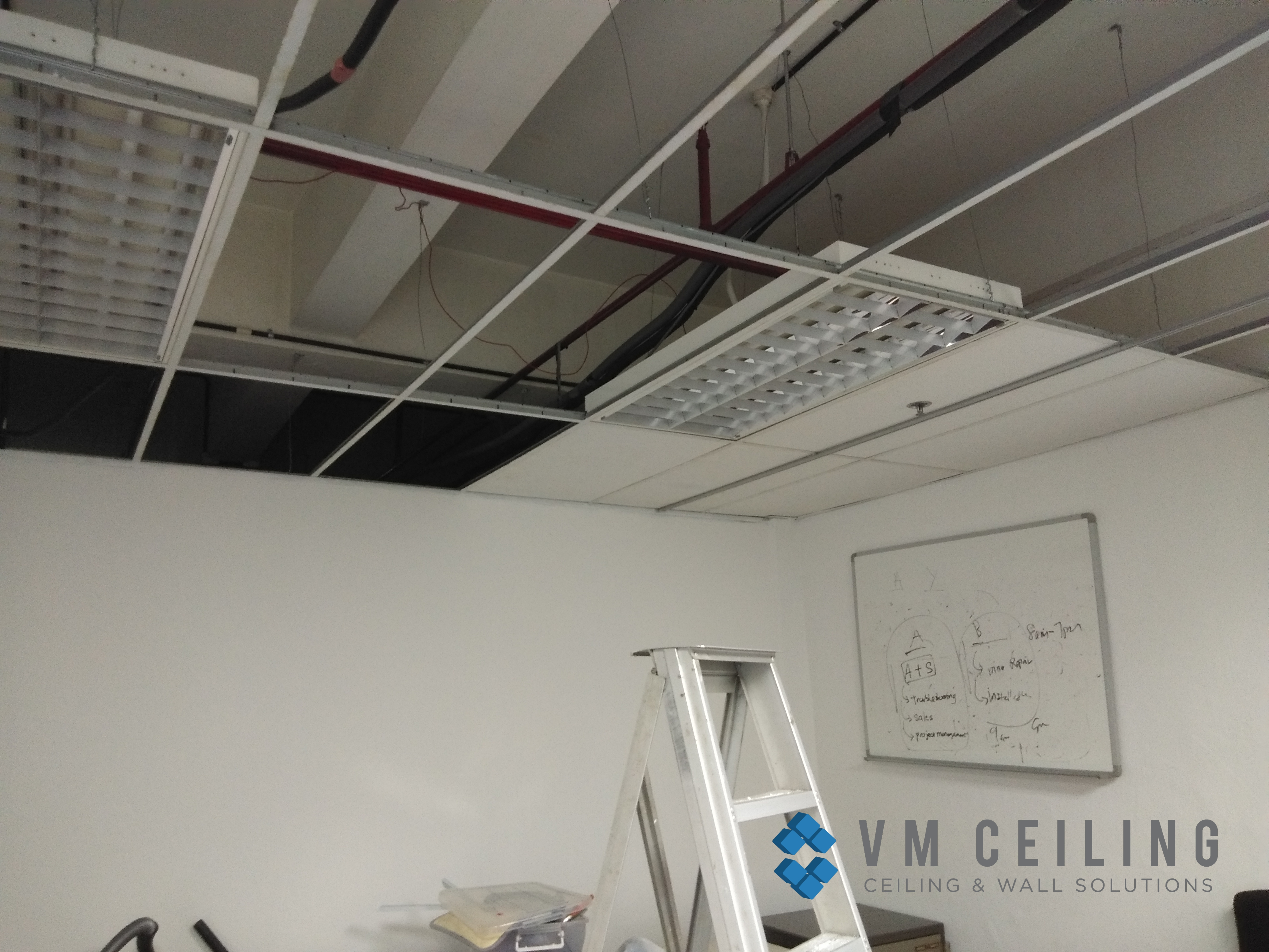 False Ceiling Renovation Singapore Commercial Office Meeting