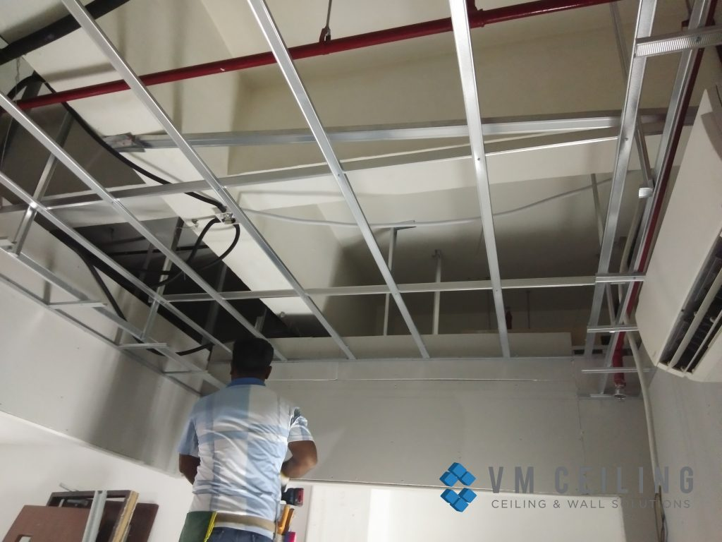 office meeting room false ceiling renovation vm ceiling singapore commercial bukit merah 2