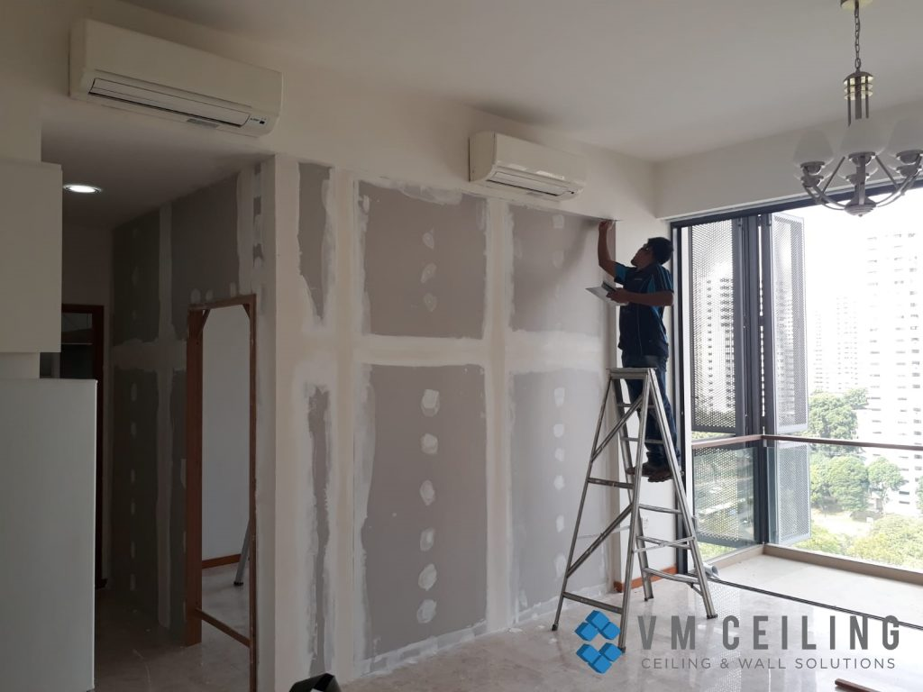 Drywall repair vm false ceiling partition wall singapore