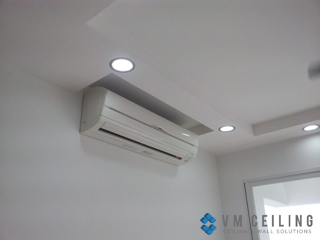 aircon pelmet vm false ceiling partition wall singapore