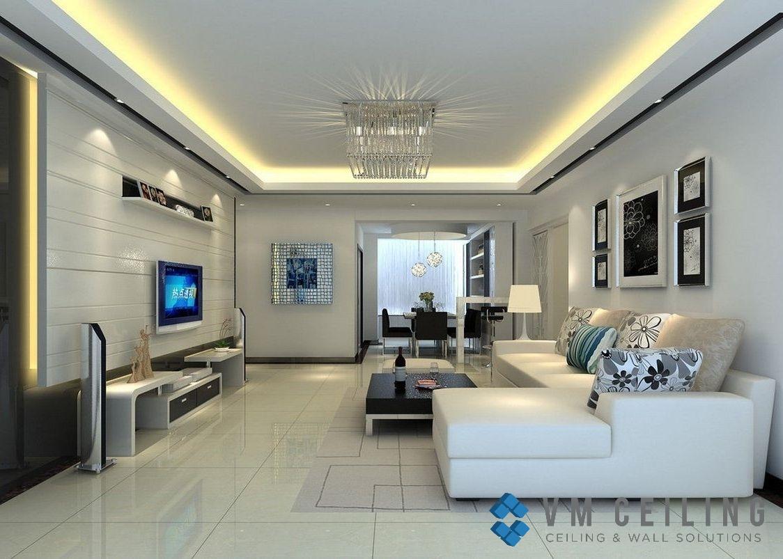 Living Room Ceiling - VM False Ceiling Singapore Partition ...