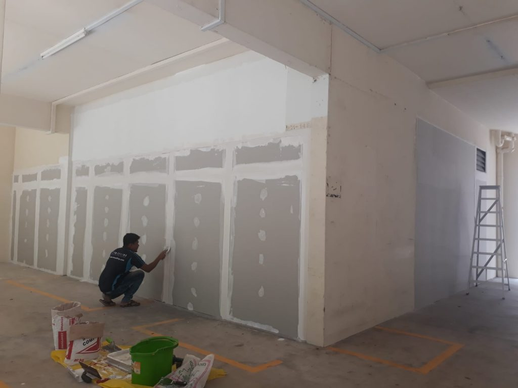 Drywall-Partition-Wall-HDB-Lobby