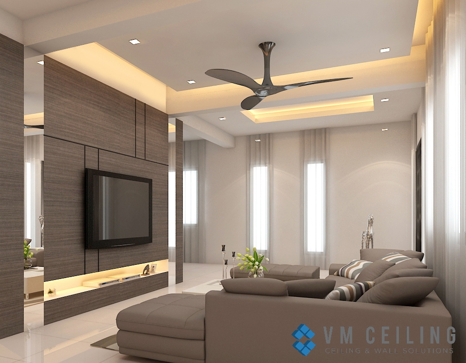 Living Room False Ceiling Singapore Landed House ...