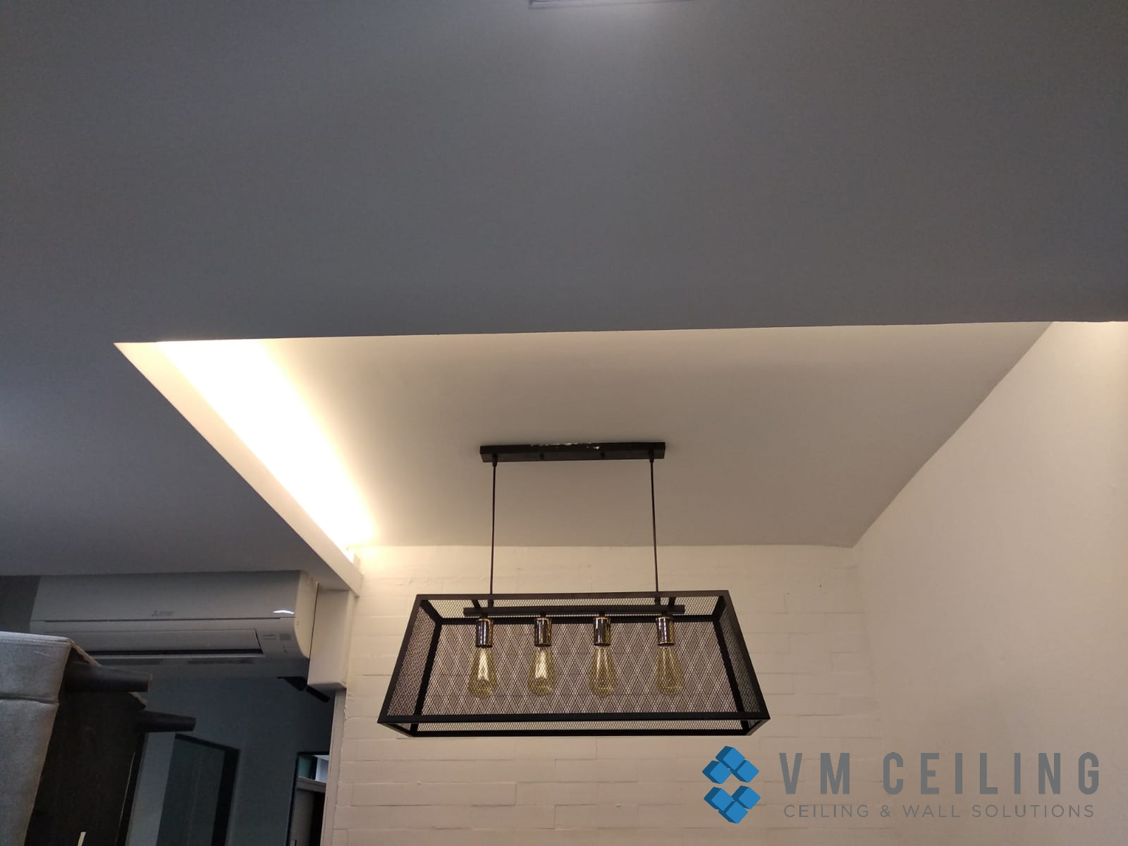 living room false ceiling cove lighting vm ceiling singapore hdb woodlands 1