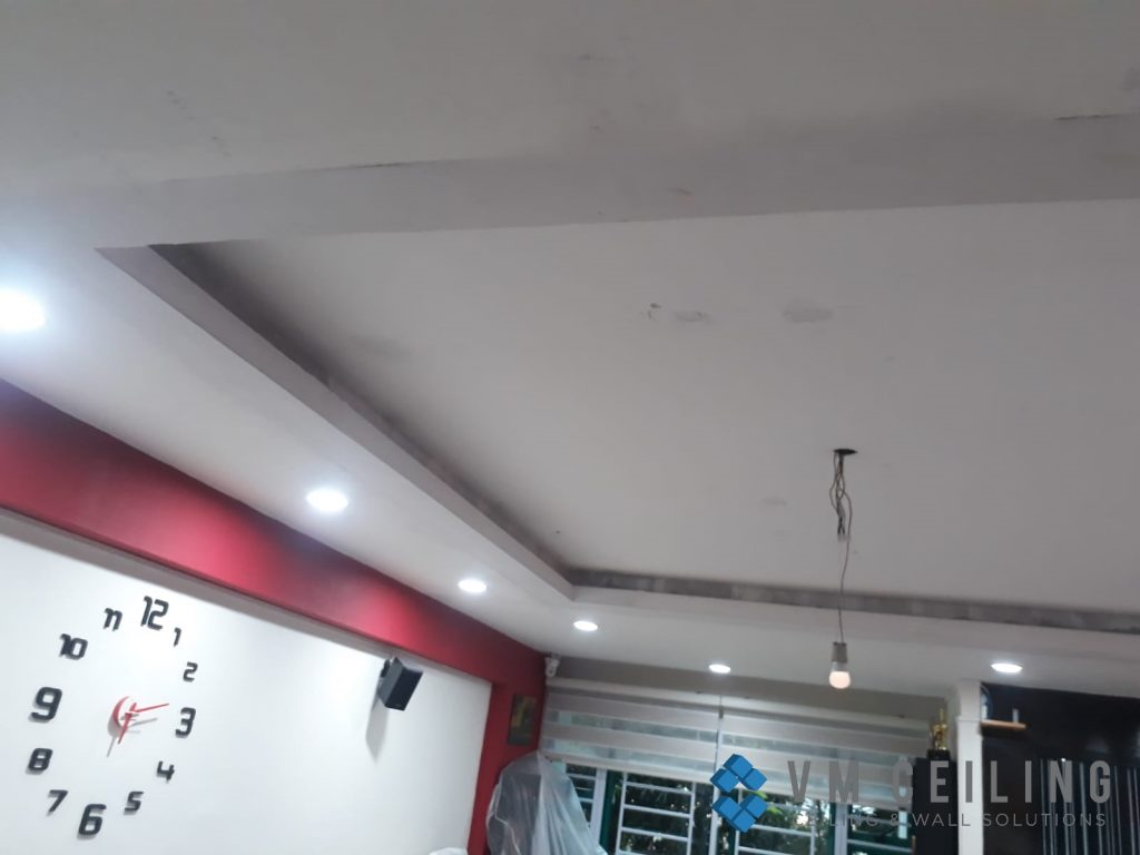 Living Room False Ceiling Downlights Installation vm ceiling Singapore HDB Admiralty 3