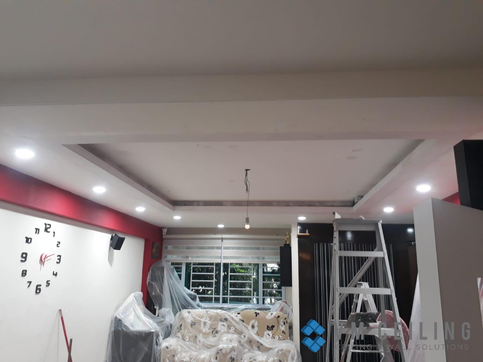 Living Room False Ceiling Downlights Installation vm ceiling Singapore HDB Admiralty