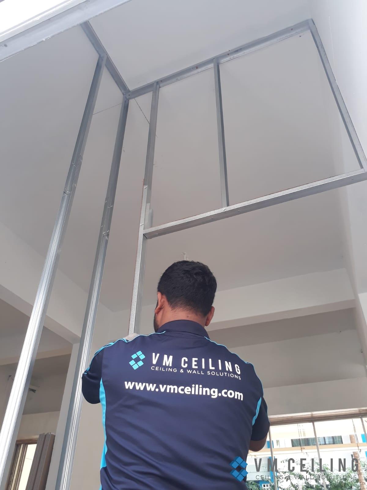 partition wall vm ceiling singapore commercial studio bukit batok 2