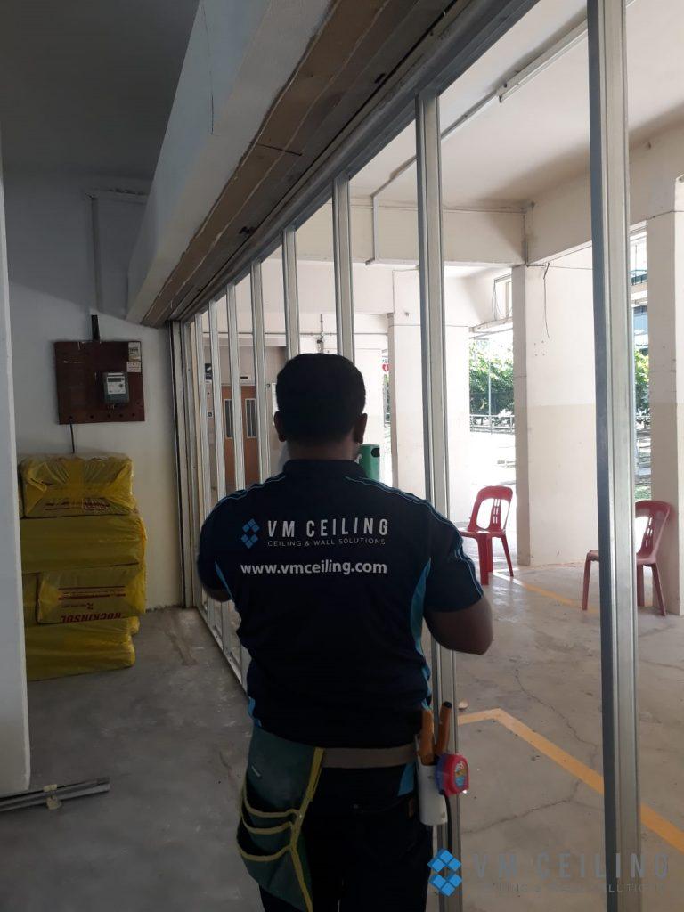 partition wall vm ceiling singapore commercial studio bukit batok 7