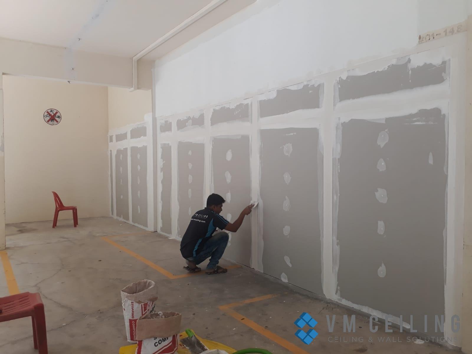 partition wall vm ceiling singapore commercial studio bukit batok 8