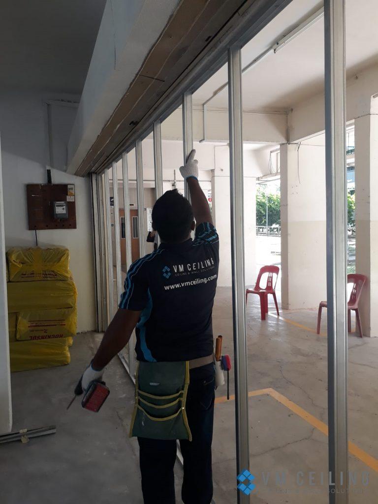 partition wall vm ceiling singapore commercial studio bukit batok