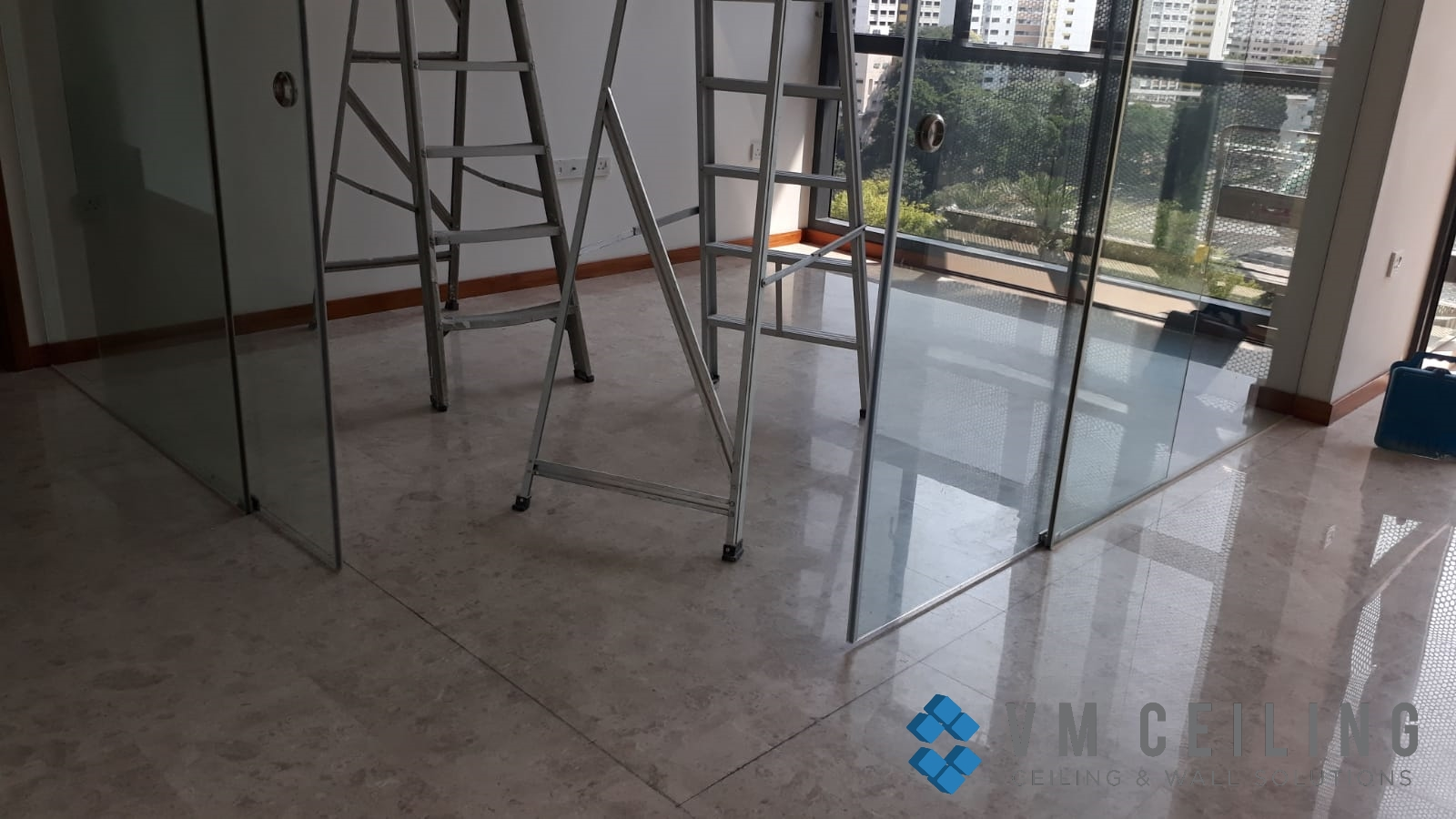 bedroom partition wall vm ceiling singapore condo woodlands 1