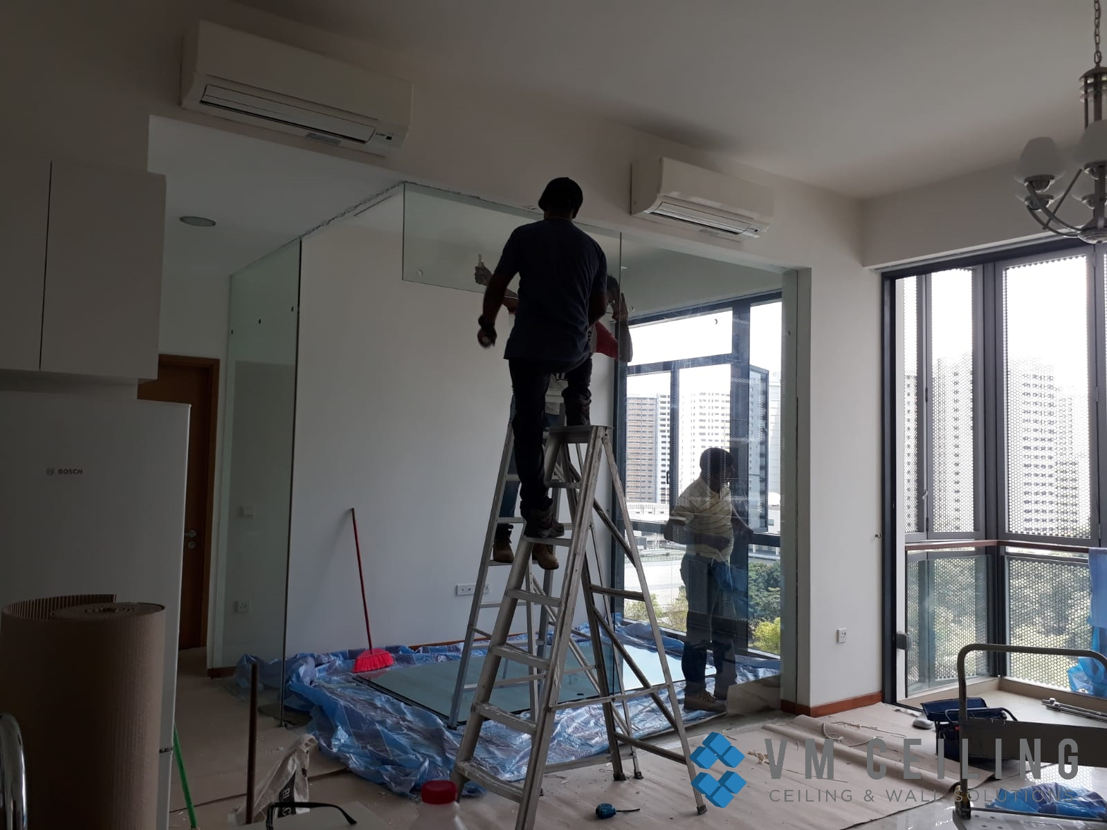 bedroom partition wall vm ceiling singapore condo woodlands 3