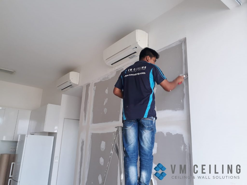 bedroom partition wall vm ceiling singapore condo woodlands 4