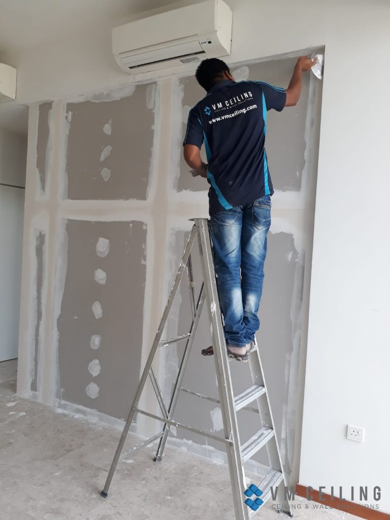 bedroom partition wall vm ceiling singapore condo woodlands 7