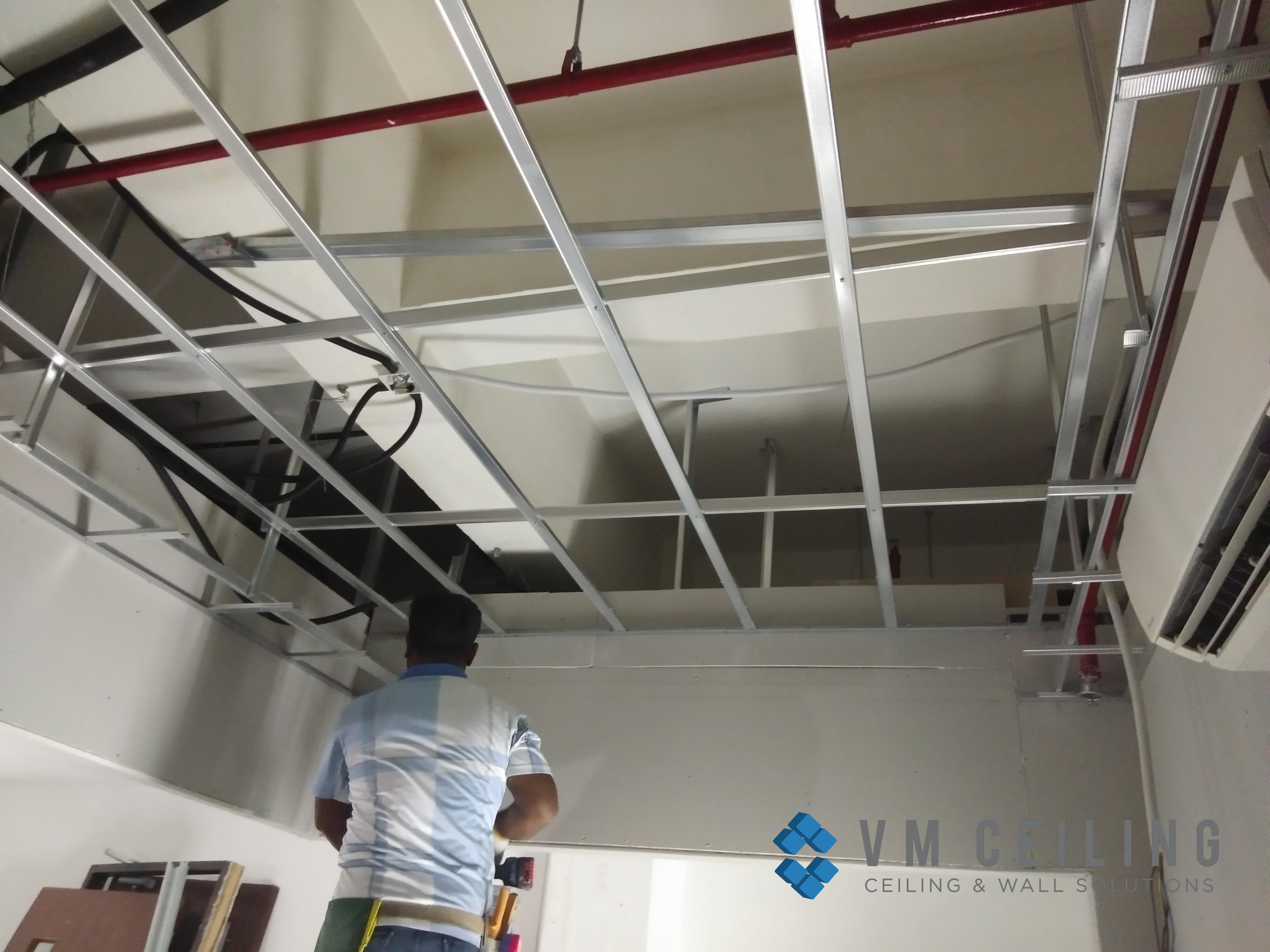 office meeting room false ceiling renovation vm ceiling singapore commercial bukit merah 2