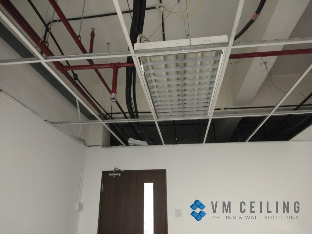 office meeting room false ceiling renovation vm ceiling singapore commercial bukit merah
